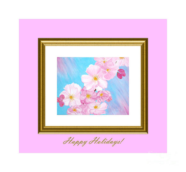 Digital Art - Happy Holidays. Cherry Blossom. by Oksana Semenchenko