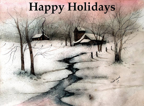 Let In The Light Painting - Happy Holidays In The Country  by Anna Sandhu Ray