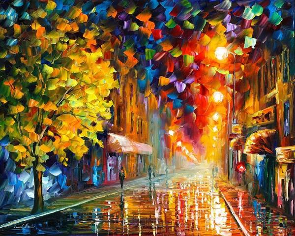 Wall Art - Painting - Happy Street by Leonid Afremov