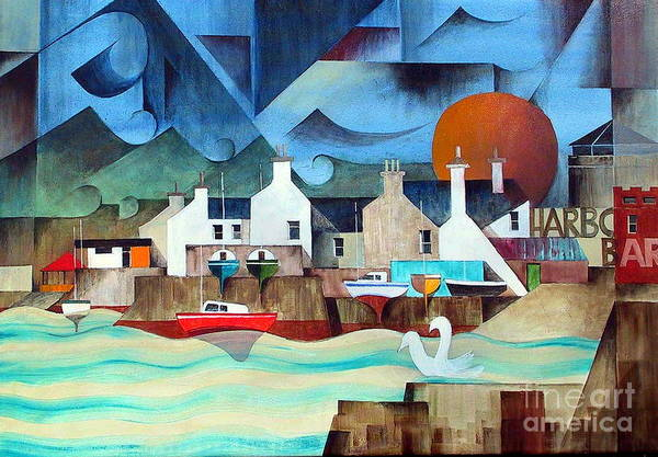 Painting - Harbour Bar Bray Wicklow by Val Byrne