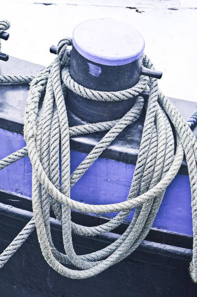 Anchorage Photograph - Harbour Rope by Tom Gowanlock