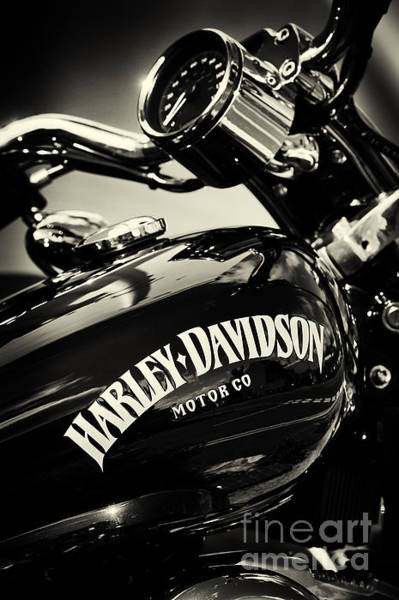 Harley Davidson Black And White Wall Art - Photograph - Harley D Sepia by Tim Gainey