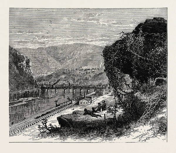 Wall Art - Drawing - Harpers Ferry, United States Of America by American School