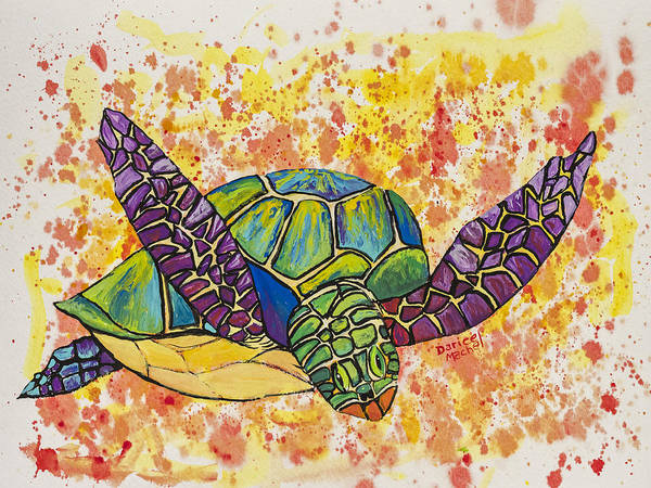 Painting - Hawaiian Sea Turtle  by Darice Machel McGuire