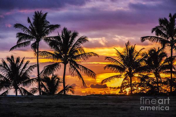 Hawaiian Sunset Photograph - Hawaiian Sunset by Juli Scalzi