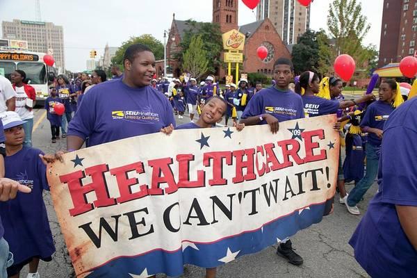 Placard Photograph - Healthcare Reform Campaign by Jim West