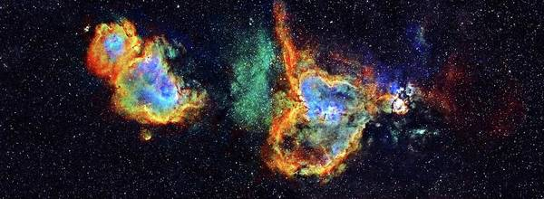 Heart And Soul Nebulae Art Print