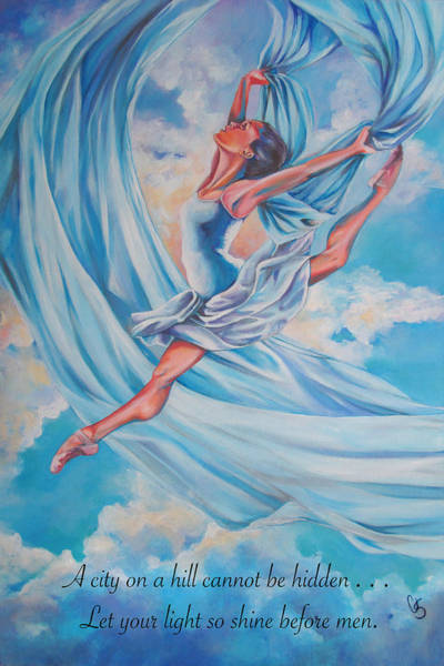 Wall Art - Painting - Heavenly Dance by Tamer and Cindy Elsharouni