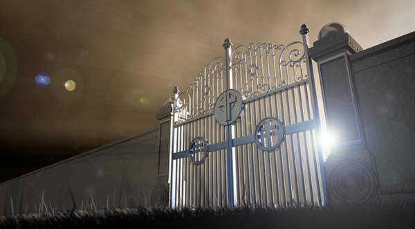 Majestic Digital Art - Heavens Open Gates by Allan Swart