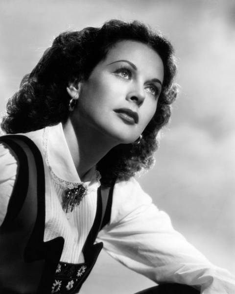 Glamorous Photograph - Hedy Lamarr by Silver Screen