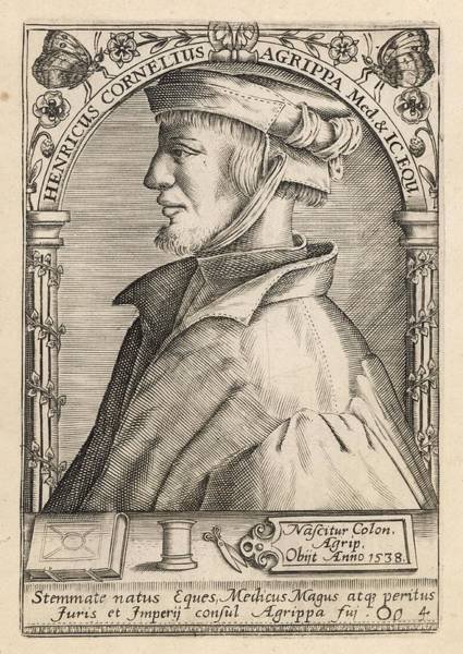 Wall Art - Drawing - Heinrich Cornelius Agrippa  German by Mary Evans Picture Library