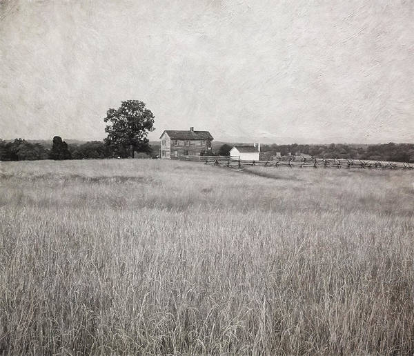 Photograph - Henry House At Manassas Battlefield Park Black And White by Kim Hojnacki