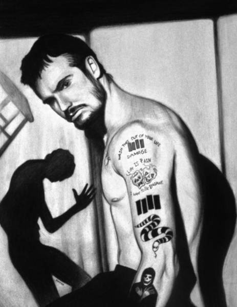 Punk Drawing - Henry Rollins by Steve Hunter
