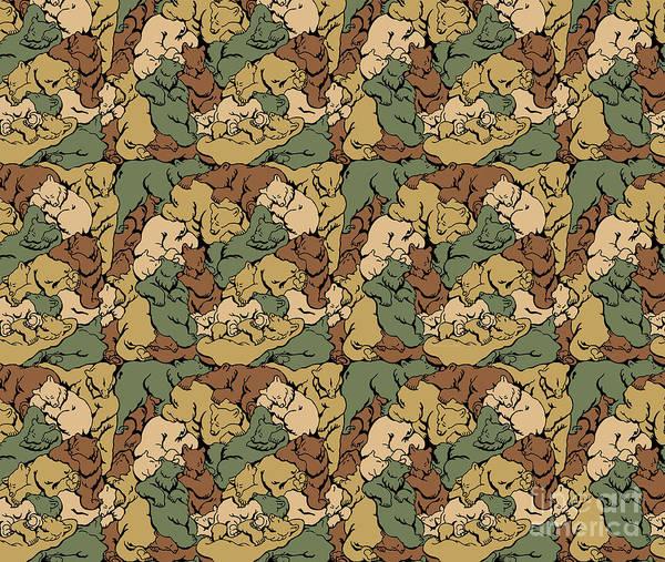 Painting - Hibernation Bear Camo by JQ Licensing