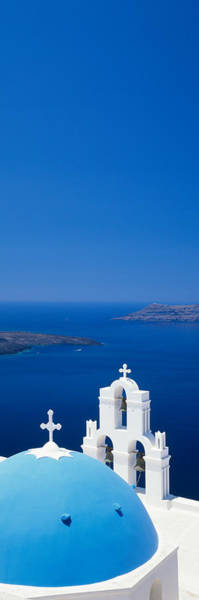 Greece Photograph - High Angle View Of A Church by Panoramic Images