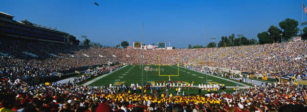 Rose Bowl Photograph - High Angle View Of A Football Stadium by Panoramic Images