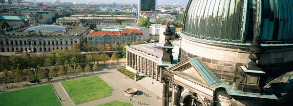 Berlin Cathedral Photograph - High Angle View Of A Formal Garden by Panoramic Images