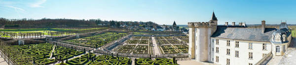 Villandry Photograph - High Angle View Of A Garden by Panoramic Images