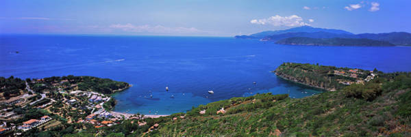 Elba Photograph - High Angle View Of Sea, Golfo Stella by Panoramic Images