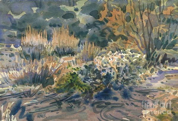 Cactus Wall Art - Painting - High Desert Flora by Donald Maier
