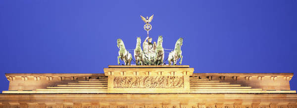 Brandenburg Gate Photograph - High Section View Of A Gate by Panoramic Images