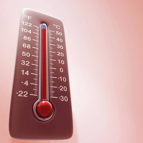 Fever Photograph - High Temperature by Ktsdesign/science Photo Library