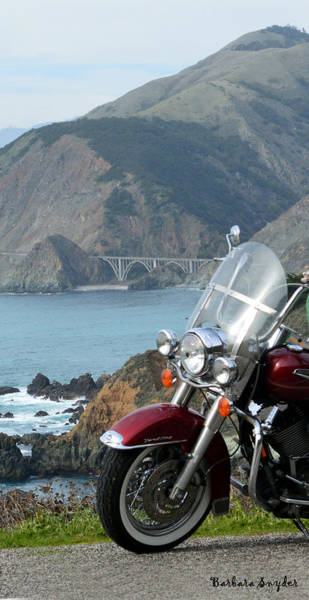 Wall Art - Photograph - Highway One Harley by Barbara Snyder