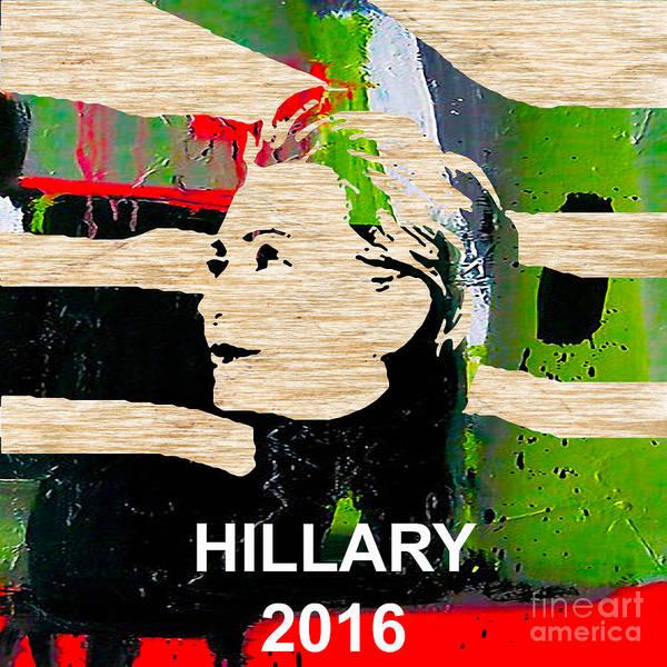 Democrat Mixed Media - Hillary Clinton 2016 by Marvin Blaine