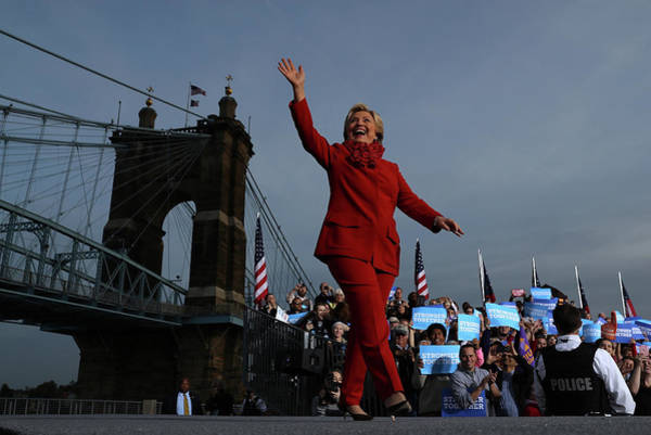Democracy Photograph - Hillary Clinton Campaigns In Ohio Ahead by Justin Sullivan