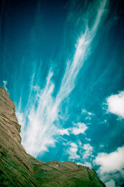 Himalyas Mountains In Tibet With Clouds Art Print