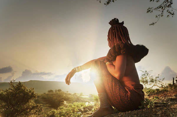Candid Photograph - Himba Woman With Traditional Hair Dress by Buena Vista Images