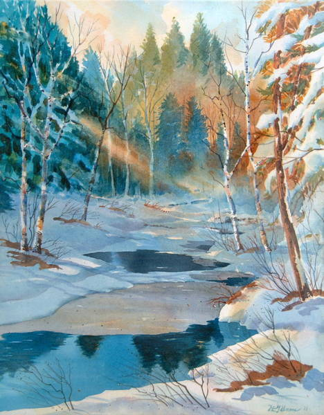 Painting - Hinchinbrooke Creek In Spring by David Gilmore