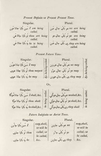 Language Photograph - Hindustani Grammar by Middle Temple Library