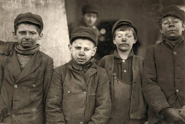 Photograph - Hine Breaker Boys, 1911 by Granger