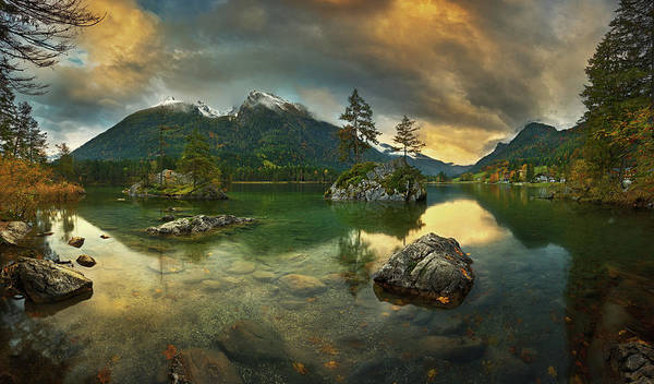Pines Wall Art - Photograph - Hintersee.... by Krzysztof Browko