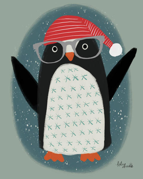 Wall Art - Painting - Hip Penguin by Katie Doucette