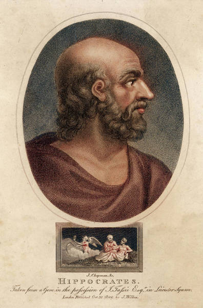 Wall Art - Drawing - Hippocrates  Greek Medical        Date by Mary Evans Picture Library