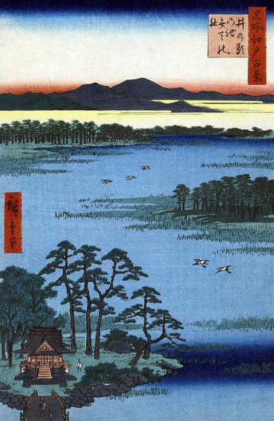Wall Art - Painting - Hiroshige Edo, 1856 by Granger