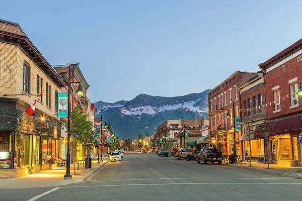 British Columbia Photograph - Historic 2nd Street In Downtown Fernie by Chuck Haney