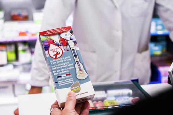 Branding Photograph - Hiv Self-test Packet by Stg/reporters/science Photo Library