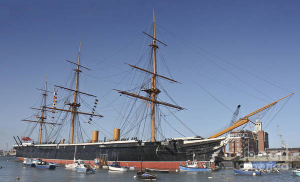 Floating Museum Photograph - Hms Warrior Portsmouth Harbour by Terri Waters