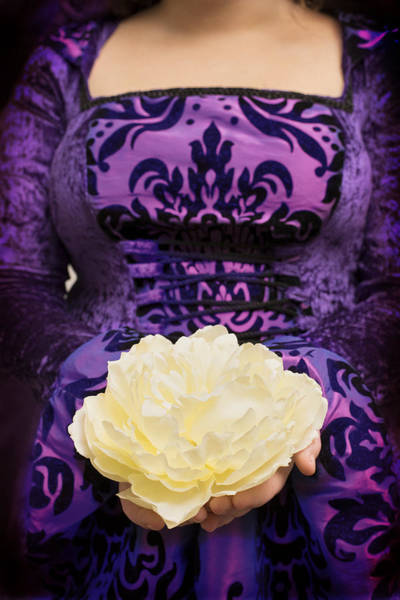 Offering Photograph - Holding Rose by Amanda Elwell