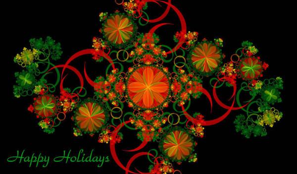 Digital Art - Holiday Card by Sandy Keeton