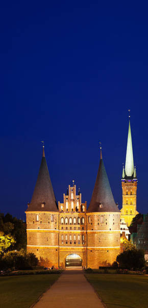 Fortification Photograph - Holstentor Gate, Lubeck by Panoramic Images