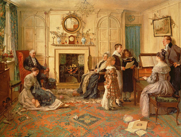 Screen Painting - Home Sweet Home by Walter Dendy Sadler