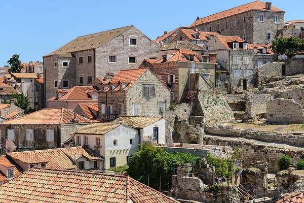 Balkan Peninsula Photograph - Homes In Dubrovnik Croatia by Brandon Bourdages