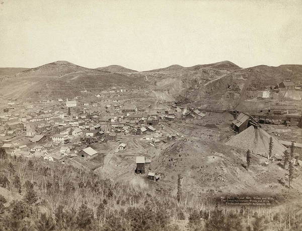Lead Mine Wall Art - Photograph - Homestake Gold Works, 1889 by Granger