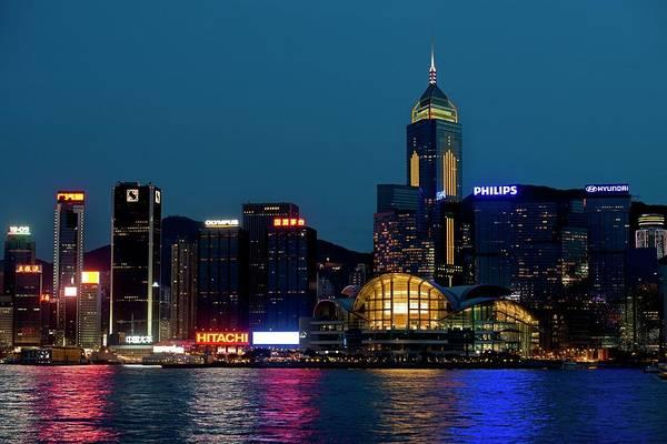 Wall Art - Photograph - Hong Kong Skyline At Night. by Tony Camacho