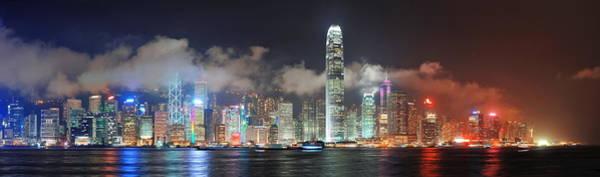 Photograph - Hong Kong Skyline by Songquan Deng