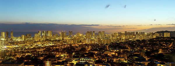 City Centre Photograph - Honolulu Skyline by Babak Tafreshi